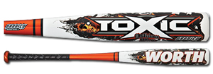 2012 Worth Toxic Prodigy BBCOR Baseball Bat ABPBC